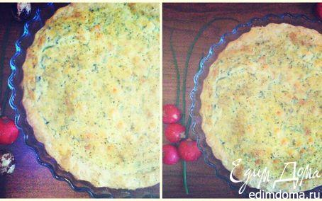 Рецепт Пирог с креветками в сливочном соусе