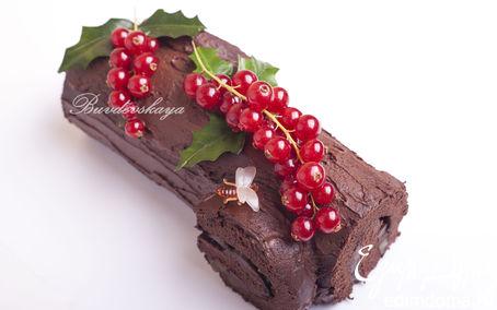 Рецепт Шоколадное полено от Пьера Эрме