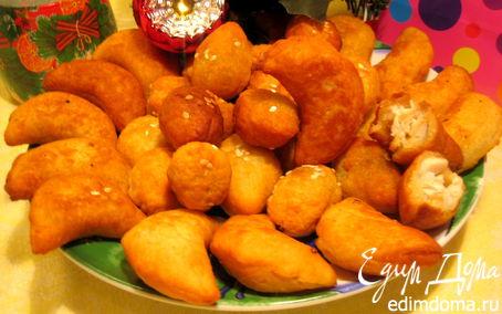 Рецепт Сырные мини-пирожки с двумя начинками (экспресс-метод)
