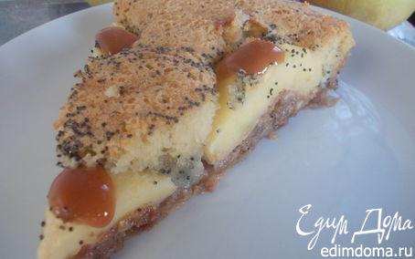 Рецепт Маковый пирог с карамельными яблочками