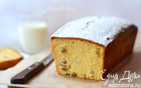 Рецепт Творожный кекс с изюмом и легким привкусом вишни
