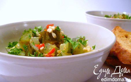 Рецепт Кисло-сладкие огурчики с миндалём, чили и каперсами