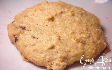 Рецепт Овсяное печенье из сырых зерен с добавлением шоколада