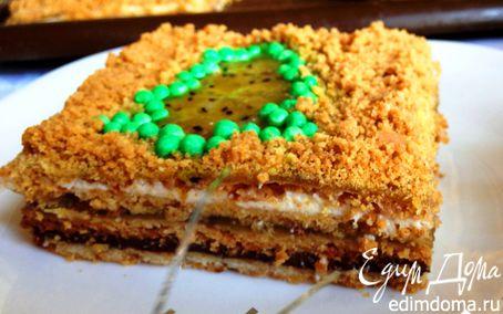 Рецепт Песочный новогодний торт
