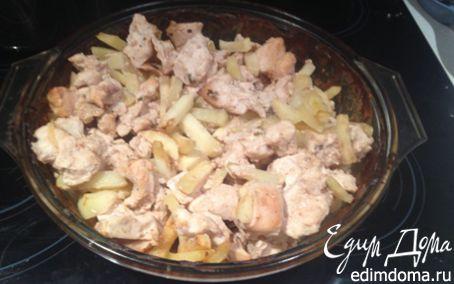 Рецепт Куриные грудки в сметане с картофелем