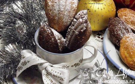 """Рецепт Французское печенье """"Мадлен"""" - вкус ванили и шоколада"""