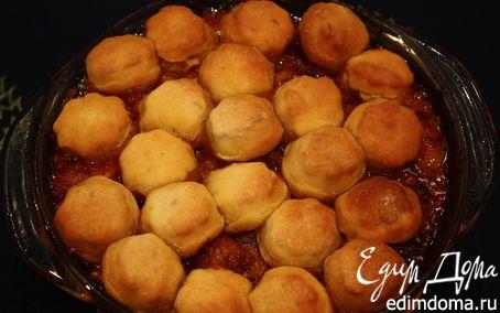 Рецепт Свинина по-деревенски с тминными пышками