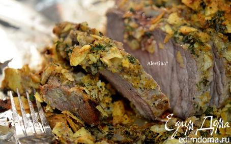 Рецепт Говядина в картофельных чипсах