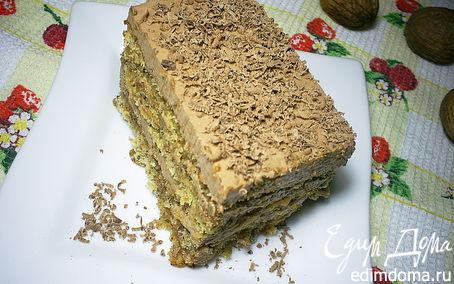 Рецепт Орехово-лимонный торт с шоколадным кремом и карамельно-миндальной прослойкой