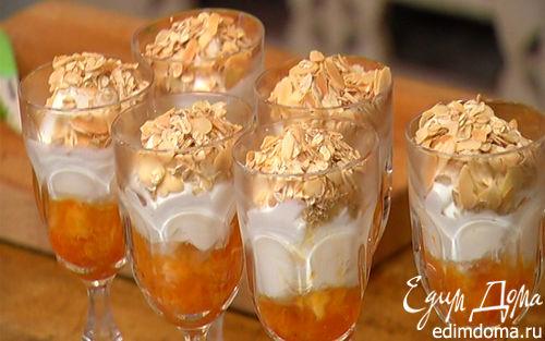 Рецепт Десерт из хурмы со взбитыми сливками