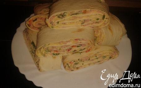 Рецепт закуски из лаваша
