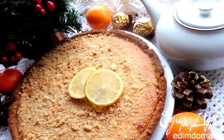 Рецепт Песочный пирог с кремом на сгущенке