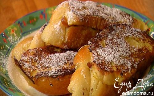 Рецепт Французские гренки с сушеной вишней и курагой