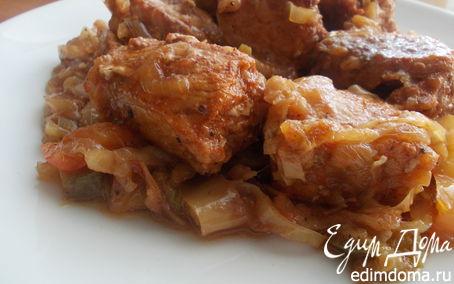 Рецепт Свинина, тушенная с овощами