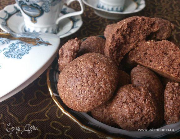 Орехово-шоколадное печенье