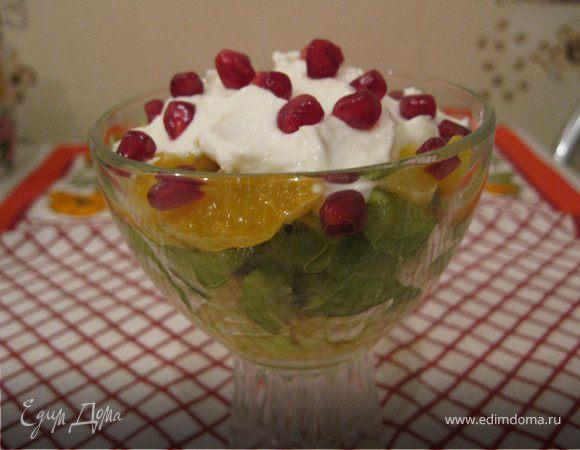Фруктовый салат-коктейль