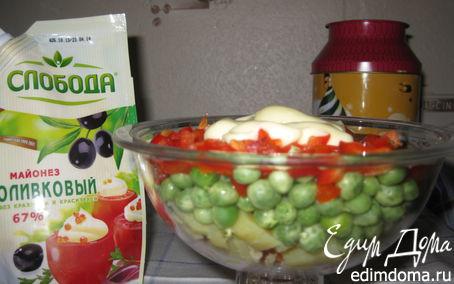 """Рецепт Овощной салат """"Здоровый"""""""