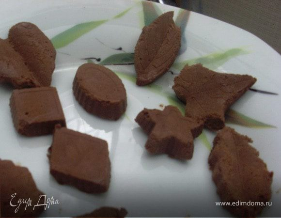 Замороженные шоколадные конфеты без сахара