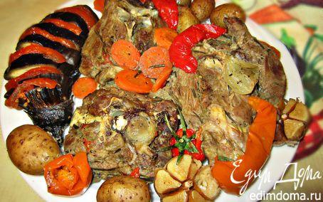Рецепт Шейка барашка, запеченная в рукаве с овощами