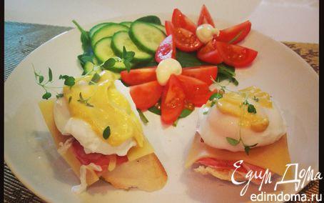 Рецепт Завтрак с яйцами Бенедикт