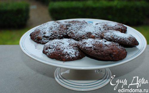 Рецепт Шоколадное печенье с грецкими орехами