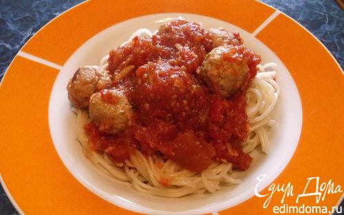 Рецепт Спагетти с фрикадельками