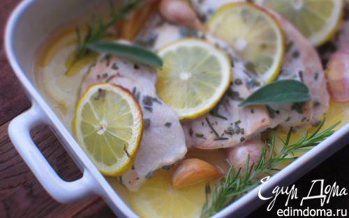 Рецепт Куриная грудка с чесноком и лимоном