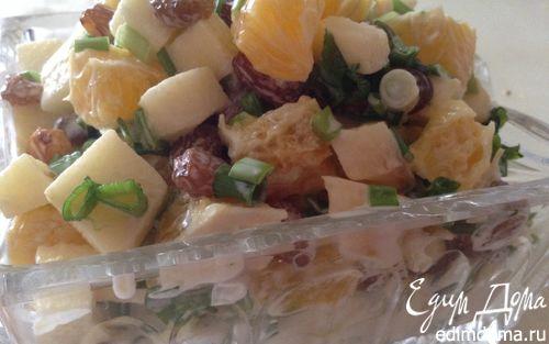 Рецепт Витаминный салат из апельсина и зеленого лука