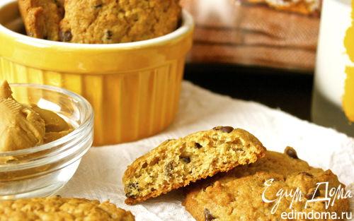 Рецепт Печенье с бананом и арахисовым маслом (Peanut Butter Banana Chocolate Chip Cookies)