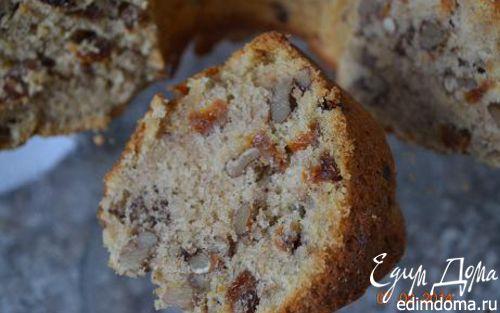 Рецепт Зимний кекс с орехами и сухофруктами