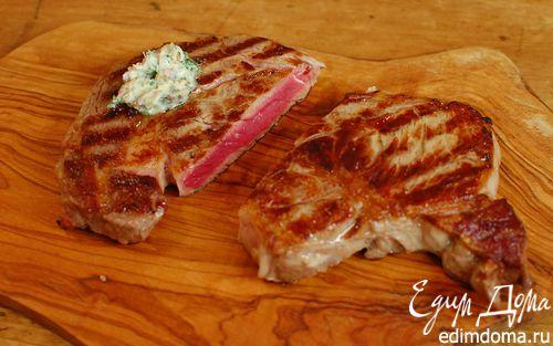 Рецепт Бифштекс с анчоусным маслом