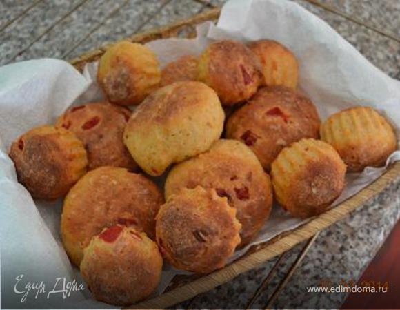 Булочки с творогом и запеченным сладким перцем