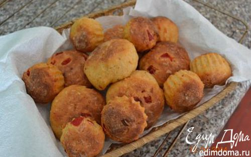 Рецепт Булочки с творогом и запеченным сладким перцем