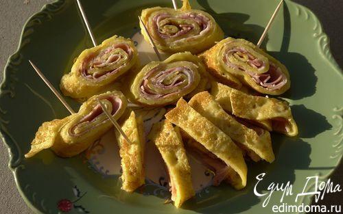 Рецепт Блины с луком и сыром