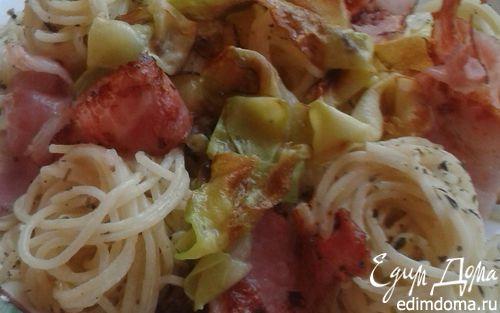 Рецепт Спагетти с беконом и кабачком