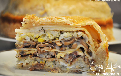 Рецепт Курник - блинный пирог по-старорусски