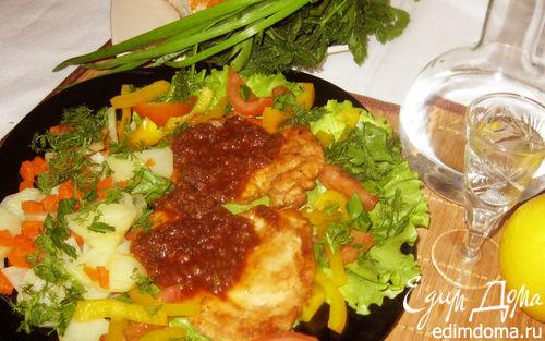 Рецепт Куриная отбивная с кисло-сладким соусом