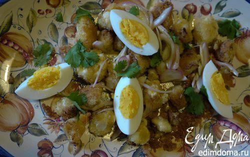 Рецепт Салат из цветной капусты с заправкой-карри