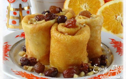 Рецепт Тыквенные блины с апельсиновой цедрой