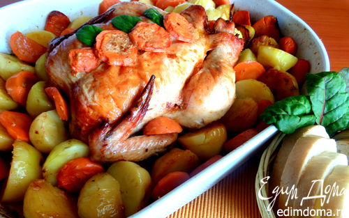 Рецепт Курица с морковью и картофелем