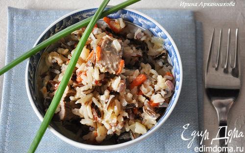 Рецепт Трехцветный рис с уткой