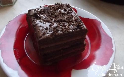 Рецепт Парижский бисквит с шоколадным кремом