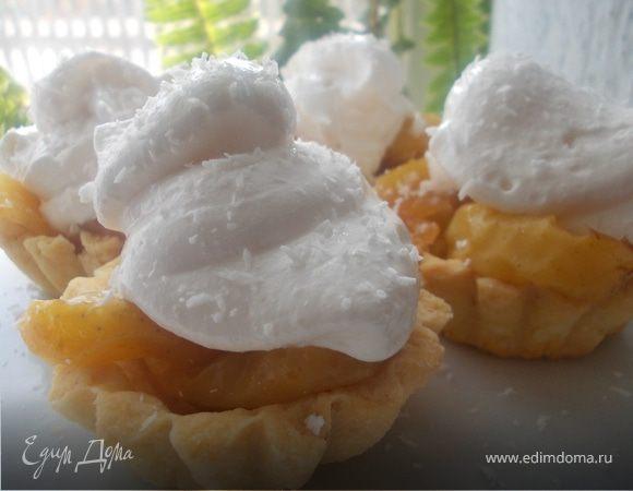 """Пирожные с карамельными яблочками и белковым кремом """"Подарок для себя"""""""