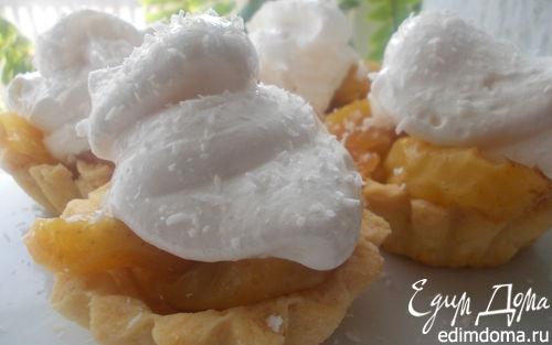 """Рецепт Пирожные с карамельными яблочками и белковым кремом """"Подарок для себя"""""""