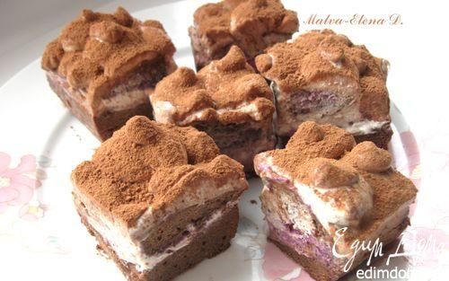 Рецепт Пирожное «Шоколадная нежность Янчи»