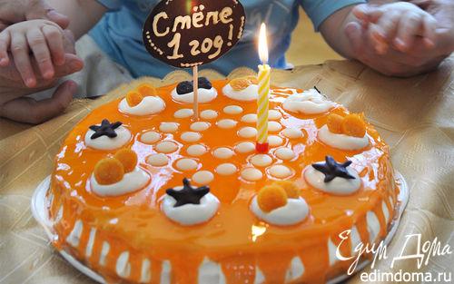 Рецепт Нежный торт с цитрусовой глазурью