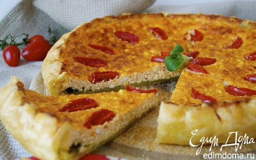 Рецепт Закусочной пирог с рикоттой и соусом песто (Torta di ricotta e pesto)