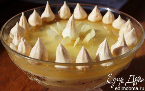 Рецепт Шоколадно-ананасовый десерт с меренгами