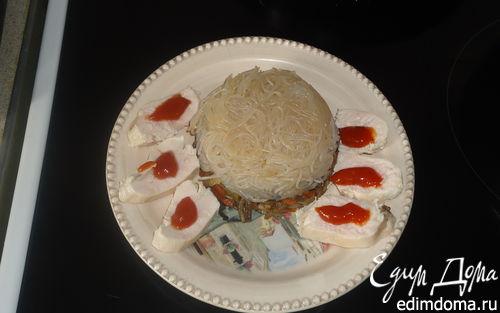 Рецепт Рисовая лапша с овощами и курицей