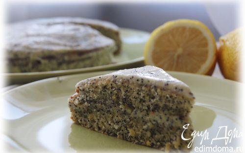 Рецепт Маковый торт с творожно-лимонным кремом
